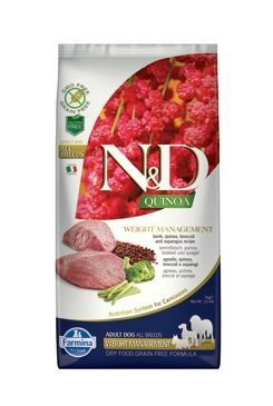 N&D Quinoa DOG Weight Management Lamb & Broccoli