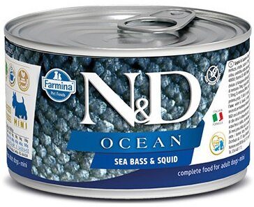 N&D DOG OCEAN Adult Sea Bass & Squid Mini 140g 4+2 ZDARMA