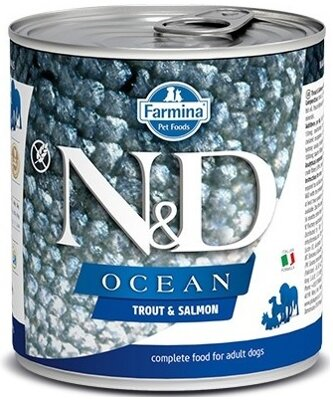 N&D DOG OCEAN Adult Trout & Salmon 285g 4+2 ZDARMA