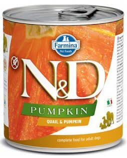 N&D DOG PUMPKIN Adult Quail & Pumpkin 285g 4+2 ZDARMA