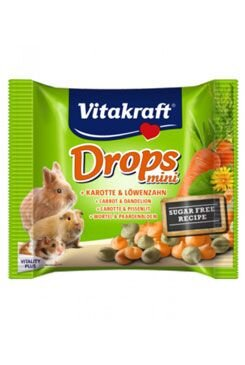 Vitakraft all Rodent poch. Carotties mini Drops 40g