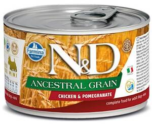 N&D DOG LOW GRAIN Adult Chicken &Pomegranate Mini 140g 4+2 ZDARMA