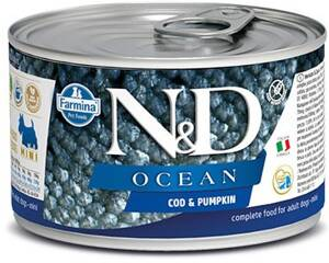 N&D DOG OCEAN Adult Codfish & Pumpkin Mini 140g 4+2 ZDARMA