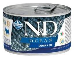 N&D DOG OCEAN Adult Salmon & Codfish Mini 140g 4+2 ZDARMA