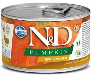N&D DOG PUMPKIN Adult Quail & Pumpkin Mini 140g 4+2 ZDARMA