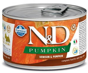 N&D DOG PUMPKIN Adult Venison & Pumpkin Mini 140g 4+2 ZDARMA