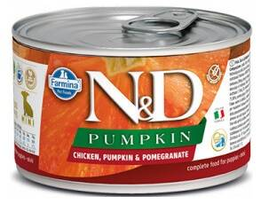 N&D DOG PUMPKIN Puppy Chicken & Pomegranate Mini 140g 4+2 ZDARMA